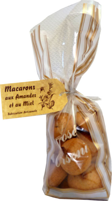 Macarons en sachet translucide