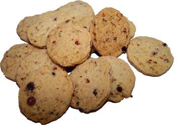Biscuits salés aux baies roses pour l'apéritif